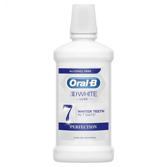 ORAL B 3D WHITE PERFECTION MOUTHWASH  500ML