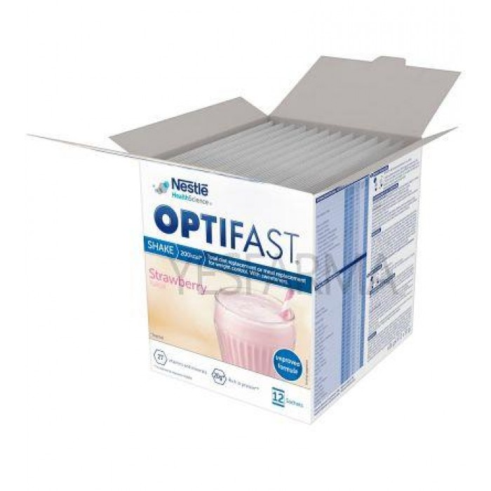 OPTIFAST STRAWBERRY 12 X 55GR SACHETS