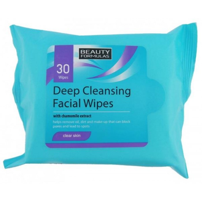 BEAUTY FORMULAS DEEP CLEAMNSING FACE WIPES
