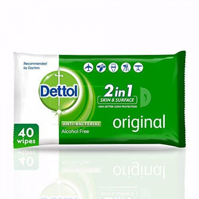 DETTOL WIPES X40 ANTIBACTERIAL