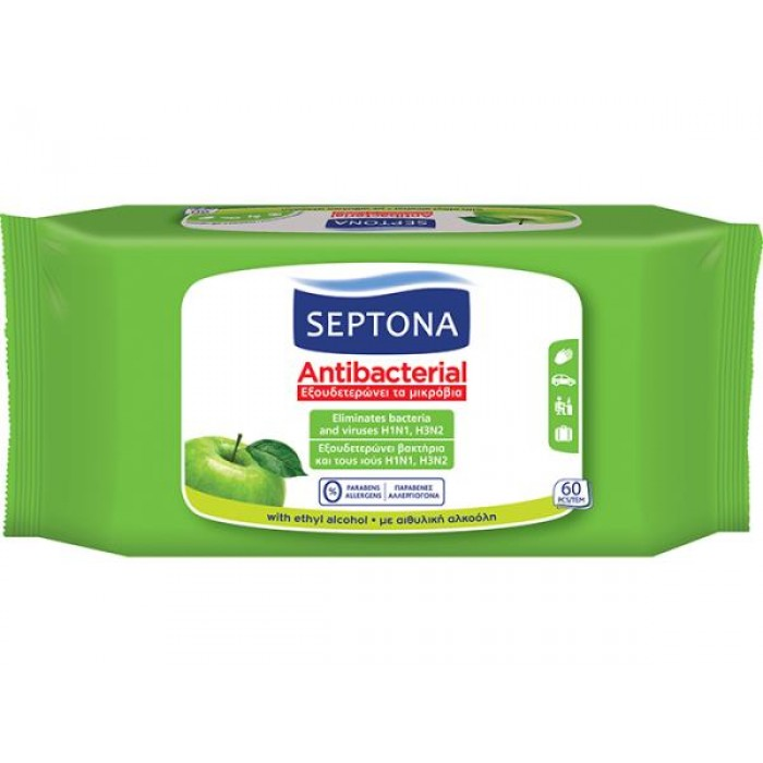 SEPTONA ANTIBACTERIAL GREEN APPLE 60 PC