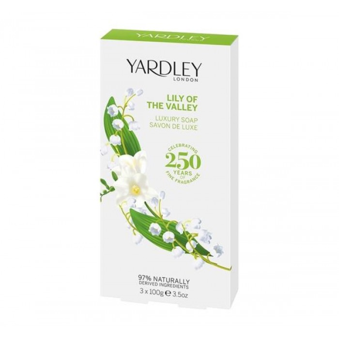 YARDLEY LILY OF THE VALLEY LUXURY SOAP 100G X 3