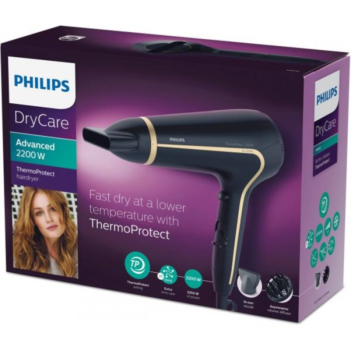PHILIPS HAIR DRYER 2200 WITH DIFFUSER {PHHP8232/20}