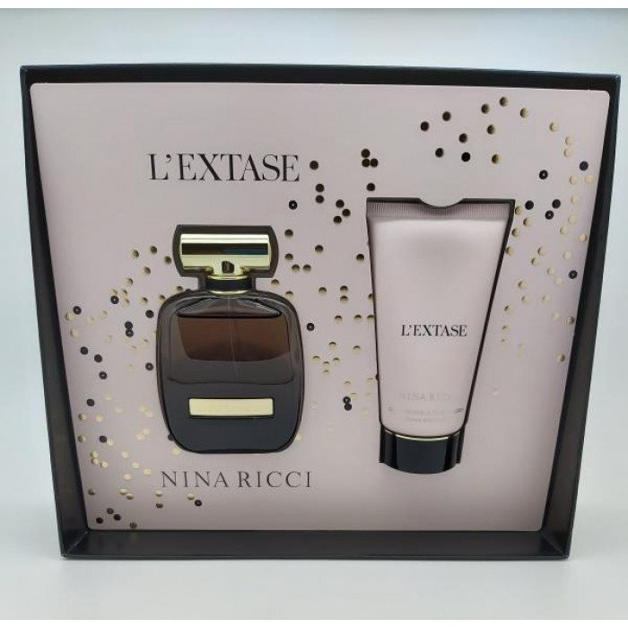 NINA RICCI L`EXTASE 50ML EDP & 75ML BODY LOTION GIFT SET
