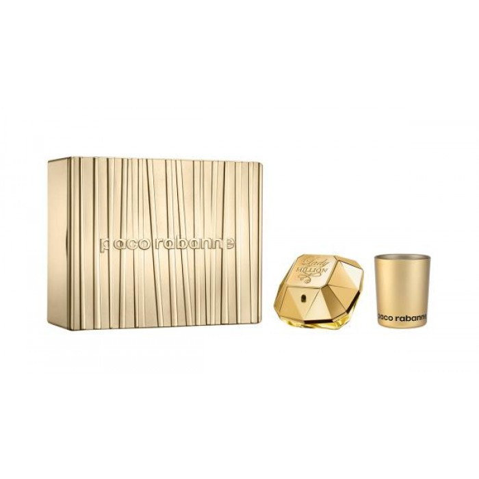 PACO RABANNE LADY MILLION 50ML EDP & SCENTED CANDLE