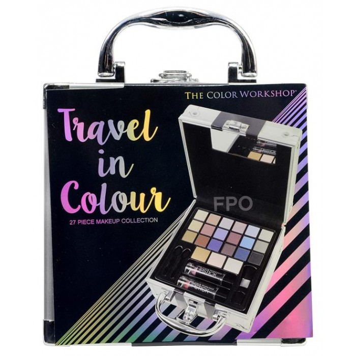 TRAVEL IN COLOUR MAKEUP CASE 27 PIECE MAKE UP COLLECTION