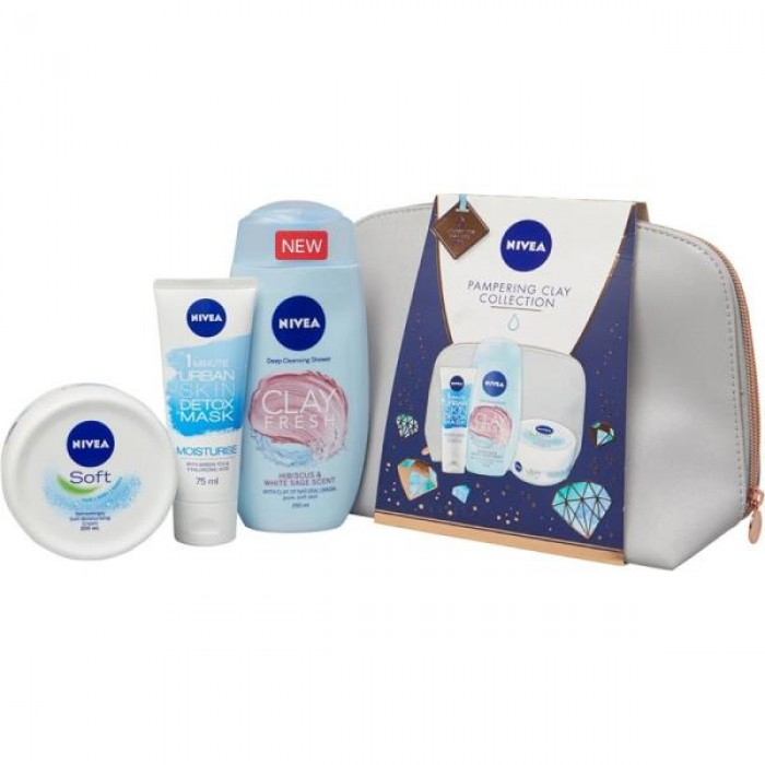 NIVEA PAMPERING CLAY COLLECTION GIFT PACK