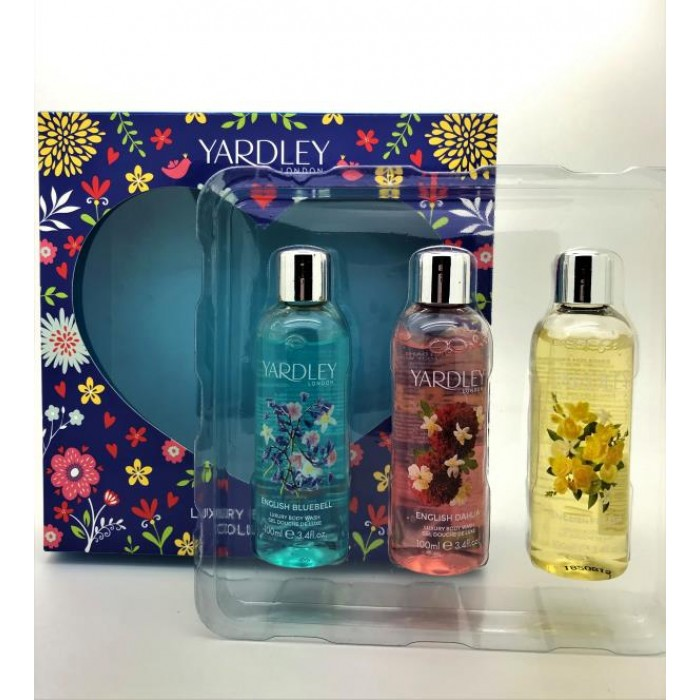 YARDLEY B/WASH TRIO X 3 {FREESIA