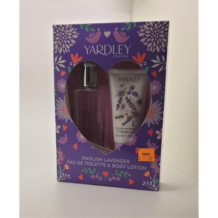 YARDLEY LAV EDT 50ML & B/LOTION SET