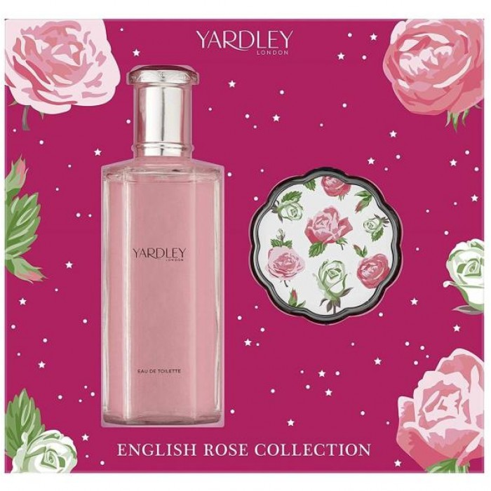 YARDLEY ENGLISH ROSE COLLECTION 125ML EDT & COMPACT MIRROR