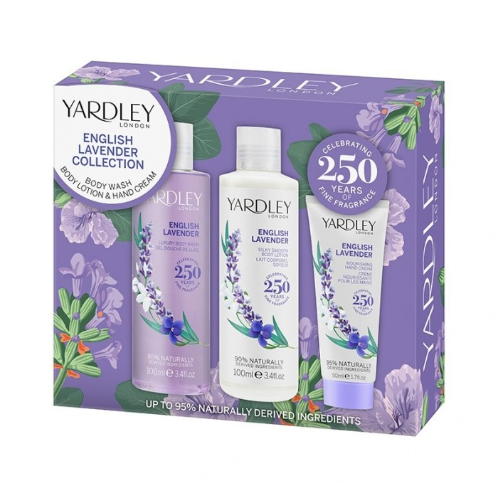 YARDLEY ENGLISH LAVENDER COLLECTION INCL BODY WASH BODY LOTION & HAND CREAM