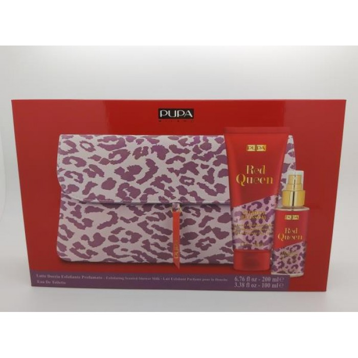 PUPA GIFT PACK WITH EXFOLIATING SHOWER MILK 100ML EDT & POUCH - 001 - CITRUSY BLOSSOM