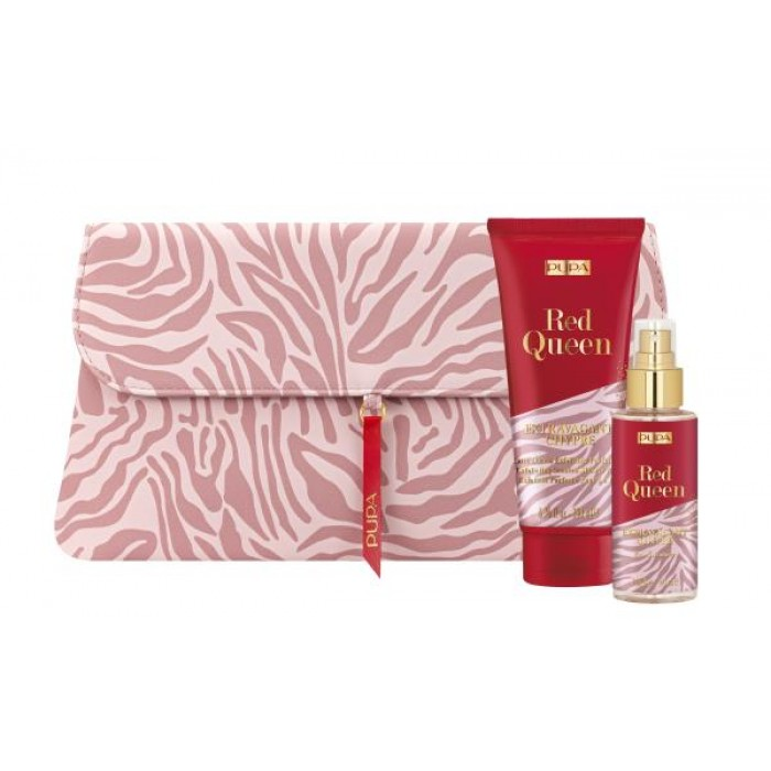 PUPA GIFT PACK WITH EXFOLIATING SHOWER MILK 100ML EDT & POUCH - 005 - EXTRAVAGANT CHYPRE