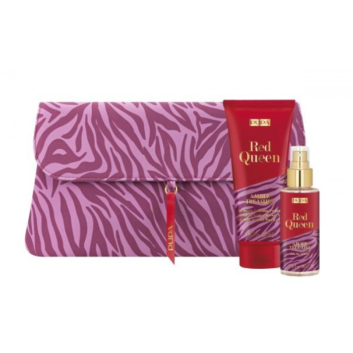 PUPA GIFT PACK WITH EXFOLIATING SHOWER MILK 100ML EDT & POUCH - 006 - AMBER TREASURE