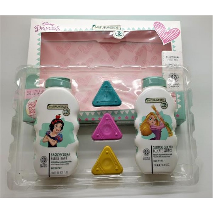 DISNEY PRINCESS SET B/BATH + SHAMP + CRAYONS / SOPRBSET 1