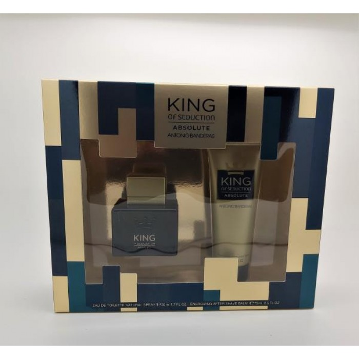 ANTONIO BANDERAS KING OF SEDUCTION ABSOLUTE 50ML EDT & 75ML AFTER SHAVE BALM GIFT SET