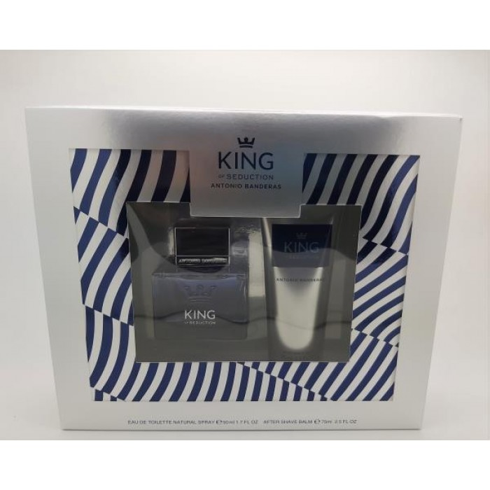 ANTONIO BANDERAS KING OF SEDUCTION 50ML EDT & 75ML AFTER SHAVE BALM GIFT SET